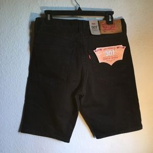 🏷New Men 501 Levi's Black Shorts